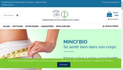 Site internet de Laboratoire Kotor Pharma