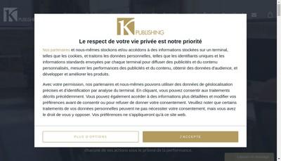 Site internet de K Publishing
