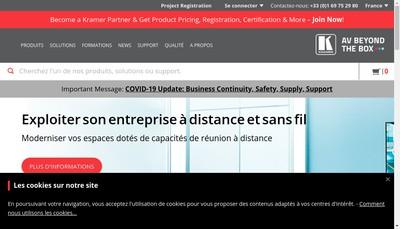 Site internet de Kramer Electronics France