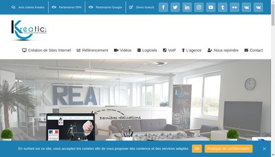 Site internet de Kreatic