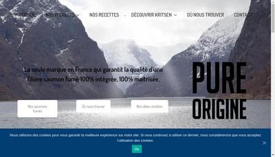 Site internet de Marine Harvest Kritsen