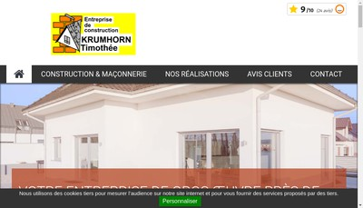 Site internet de Timothee Krumhorn SARL