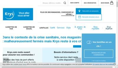 Site internet de Krys