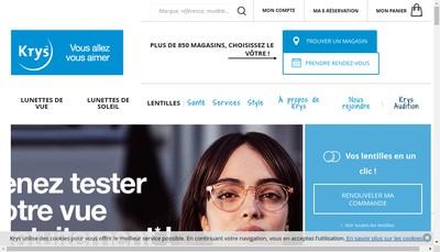 Site internet de Les Opticiens Krys