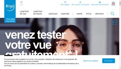 Site internet de Opticien Krys