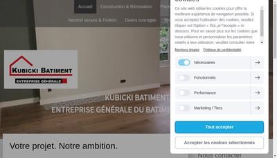 Site internet de Kubicki Batiment
