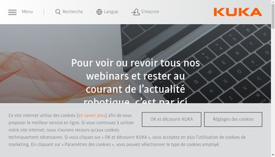 Site internet de Kuka Systems Aerospace