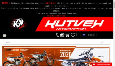 Site internet de Kutvek Kit Graphik