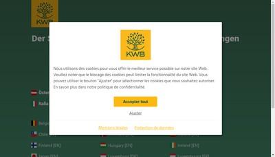 Site internet de Kwb France Puissance Chaleur Biomasse