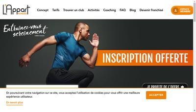 Site internet de L'Appart