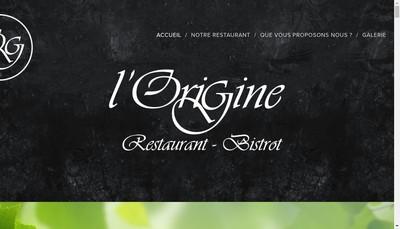 Site internet de L'Origine