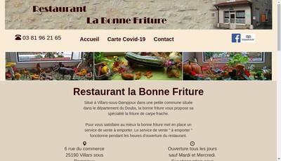 Site internet de La Bonne Friture