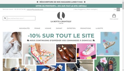 Site internet de La Botte Avelin