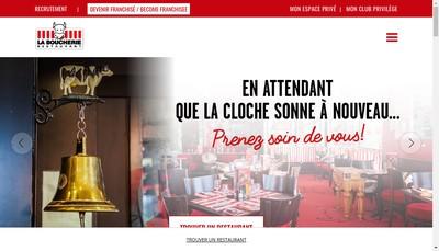 Site internet de Restaurant la Boucherie