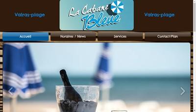 Site internet de La Cabane Bleue
