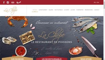 Site internet de La Chope - le Bistrot d'Acote