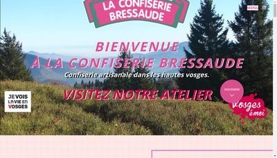 Site internet de La Confiserie Bressaude