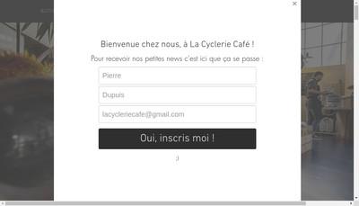 Site internet de La Cyclerie - Cafe