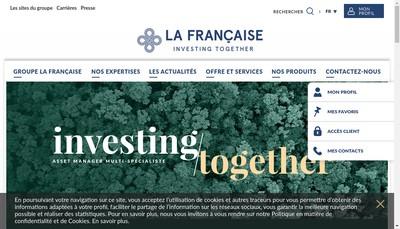 Site internet de La Francaise Real Estate Partners