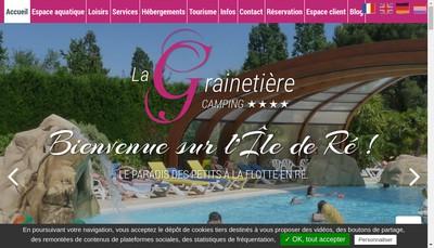 Site internet de Camping la Grainetiere