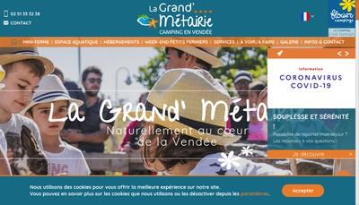 Site internet de Camping la Grand'Metairie