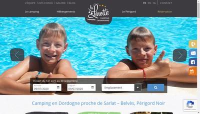 Site internet de SARL la Lenotte
