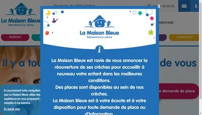 Site internet de La Maison Bleue- Grasse
