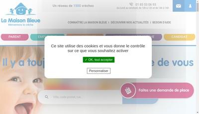 Site internet de La Maison Bleue - 88