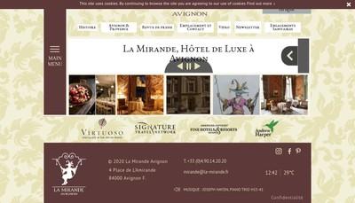 Site internet de Hotel la Mirande