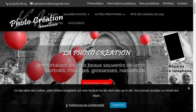 Site internet de LA Photo Creation