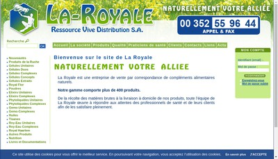 Site internet de La Royale