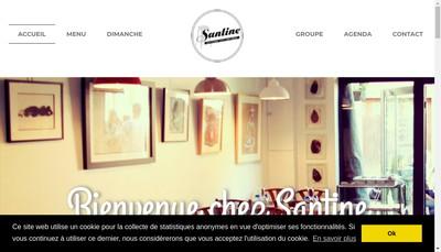 Site internet de La Santine