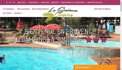 Site internet de La Simioune