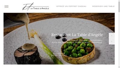 Site internet de La Table d'Angele
