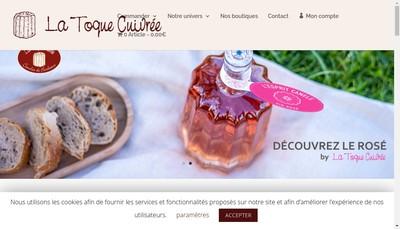Site internet de La Toque Cuivree Artigues