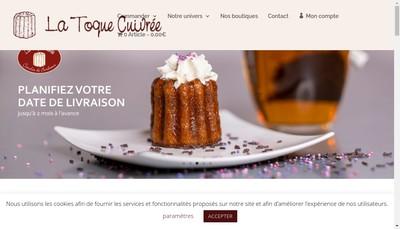 Site internet de La Toque Cuivree