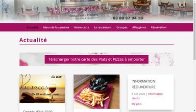 Site internet de La Toscana