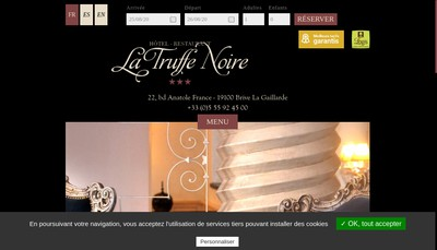 Site internet de La Truffe Noire