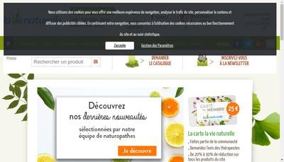 Site internet de La Vie Naturelle