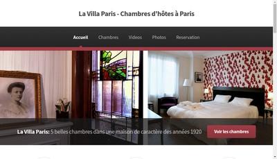 Site internet de Villa Paris