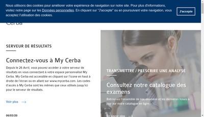 Site internet de Laboratoire Pasteur Cerba