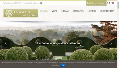 Site internet de Les Jardins de la Ballue