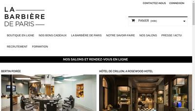 Site internet de La Barbiere de Paris