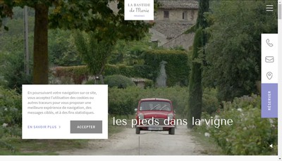 Site internet de Bastide de Marie