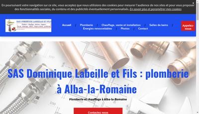 Site internet de Dominique Labeille & Fils