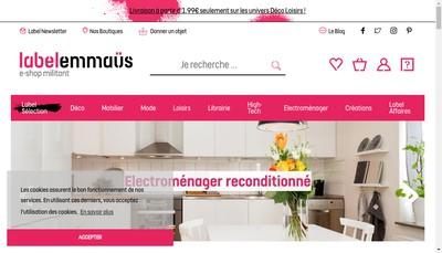 Site internet de Label Emmaus