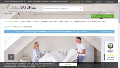 Site internet de Label Naturel