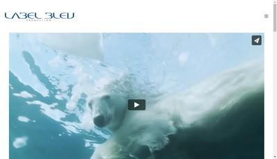 Site internet de Label Bleu Production