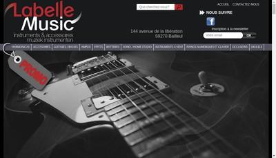 Site internet de Labelle Music