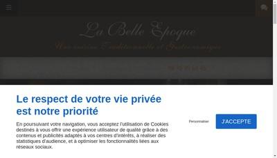 Site internet de La Belle Epoque